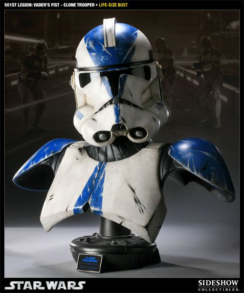 Busto Clone Trooper (501st Legion: Vader's Fist): Star Wars II Ataque dos Clones (Attack of the Clones) - Sideshow - CG