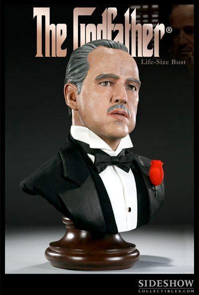 Busto Don Vito Corleone: O Poderoso Chefão (The Godfather) Escala 1/1 - Sideshow
