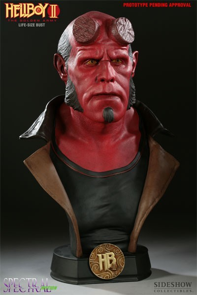 Busto Hellboy: Hellboy 2: O Exército Dourado Life-Sized Escala 1/1 - Sideshow