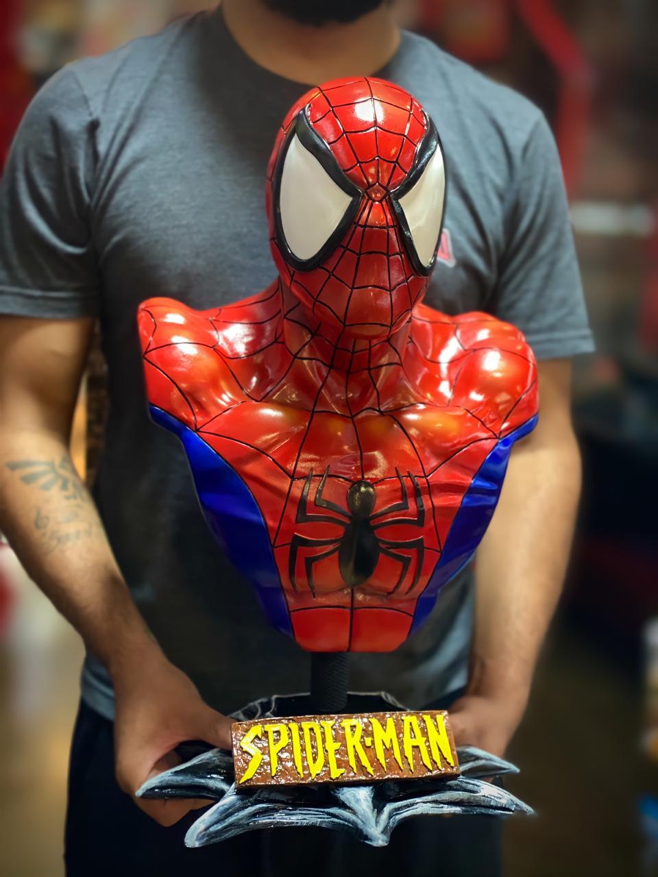 Estátua Busto Homem-Aranha (SpiderMan) Clássico: Marvel Comics