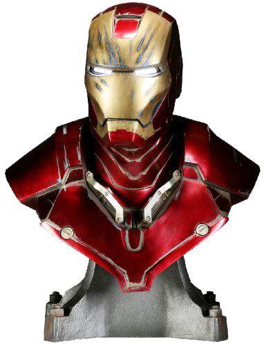 Busto Homem de Ferro (Iron Man Mark III Battle Damaged): Homem de Ferro (Iron Man) Escala 1/1 - Sideshow