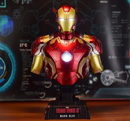 Busto Homem de Ferro (Iron Man) Mark XLIII: Vingadores Era de Ultron (Avengers Age of Ultron) Escala 1/4 - Hot Toys - CG