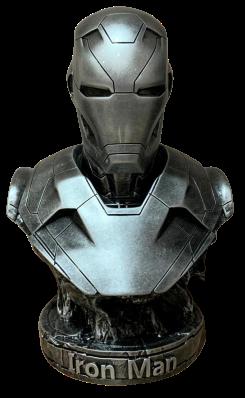 Busto Homem de Ferro (Iron Man Mark XLVI): Marvel (Silver) - Escala 1/2