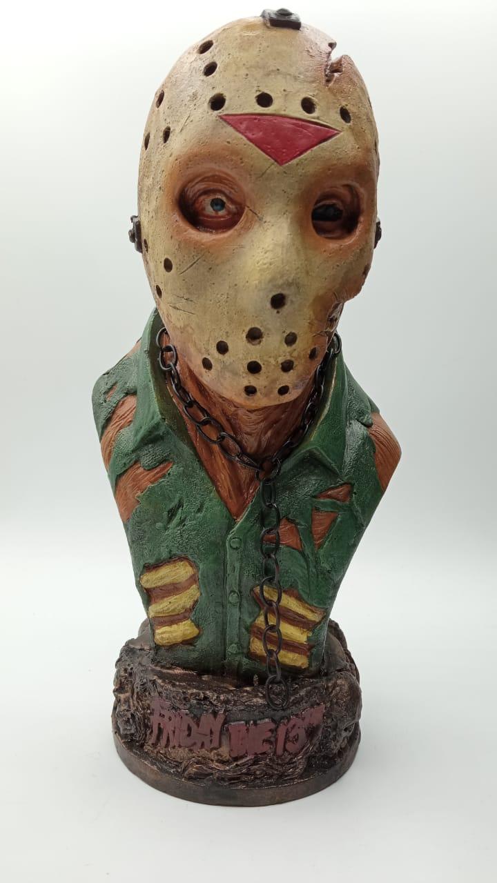 Estátua Busto Jason Voorhees: Sexta-Feira 13 (Friday the 13th) (Ferido)