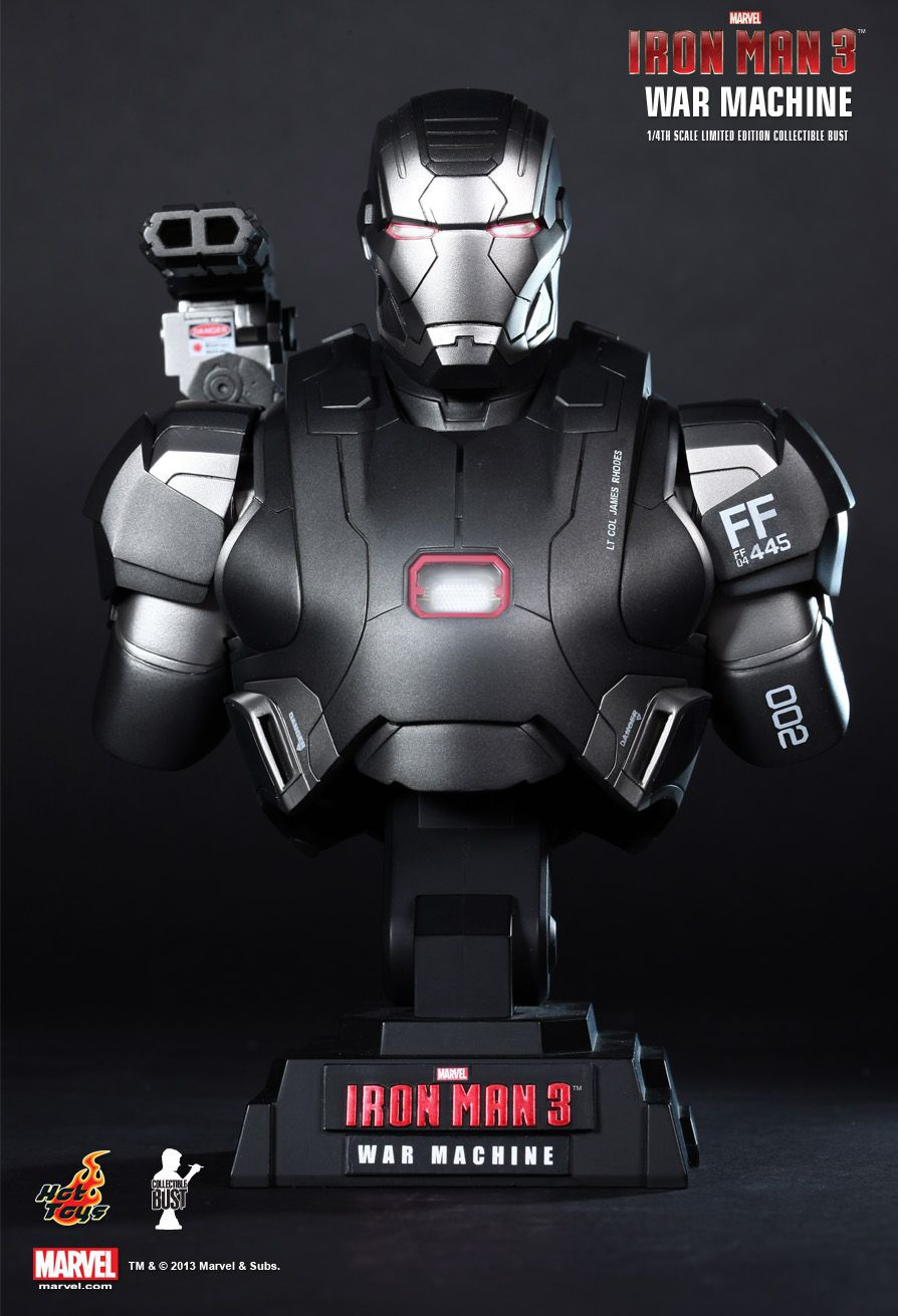 Busto Máquina de Combate (War Machine): Homem de Ferro 3 (Iron Man 3) Escala 1/4 (Limited Edition) - Hot Toys