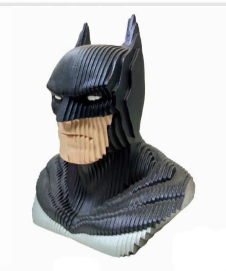 Estátua Busto MDF Colorido Batman: DC Comics - EV