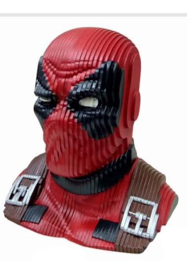 Busto MDF Colorido Deadpool: Deadpool (Marvel) - EV