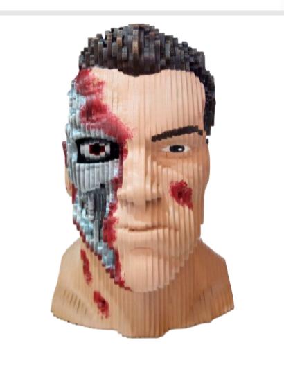 Busto MDF Colorido Exterminador (Terminator): O Exterminador do Futuro (The Terminator)