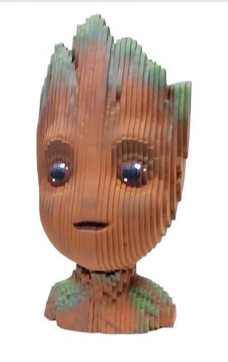 Busto MDF Colorido Groot (Marvel Comics)