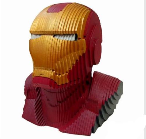 Busto MDF Colorido Homem de Ferro (Iron Man) Marvel Comics - EV
