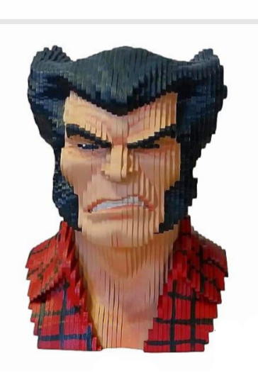 Busto MDF Colorido Logan (Wolverine): X-Men (Marvel Comics)