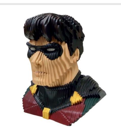 Busto MDF Colorido Robin: DC Comics
