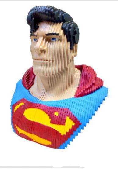 Busto MDF Colorido Superman: DC Comics