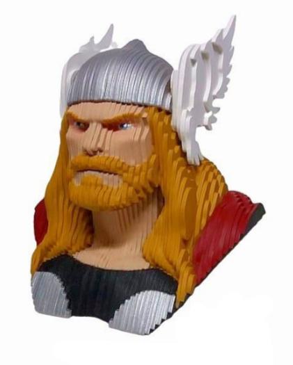 Busto MDF Colorido Thor (Marvel Comics) - EV