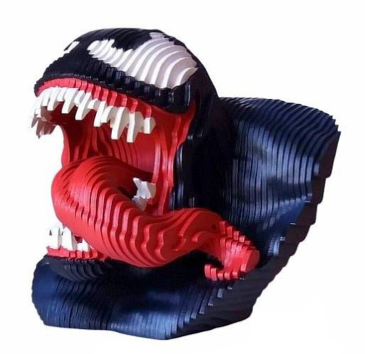Estátua Busto MDF Colorido Venom (Marvel Comics) - EV