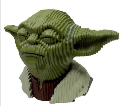 Busto MDF Colorido Yoda: Star Wars - EV