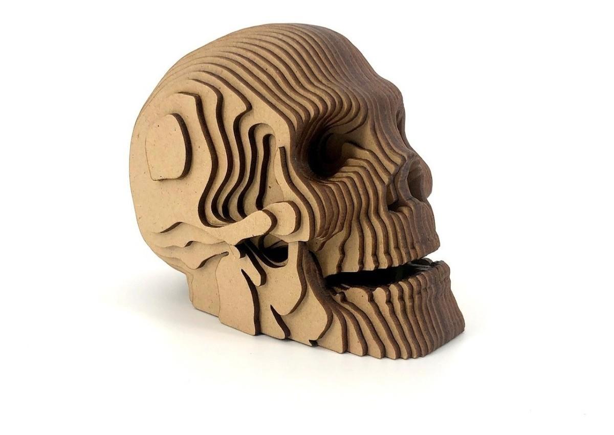 Busto MDF Crânio Caveira: ( Pequeno)