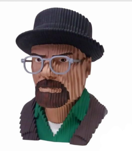 Busto MDF Colorido Walter White: Breaking Bad