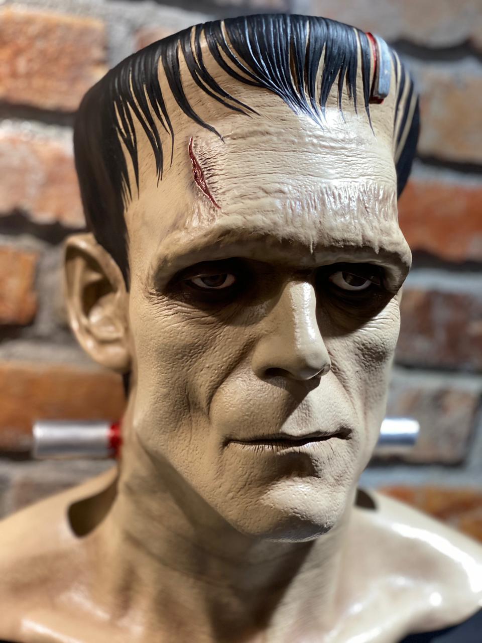 Estátua Busto Monstro de Frankenstein: Frankenstein (Escala 1/1)