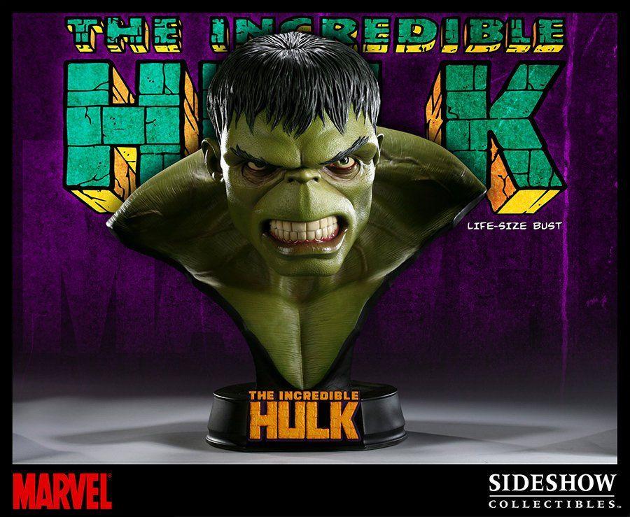 Busto O Incrível Hulk (The Incredible Hulk): Marvel Classic Escala 1/1 - Sideshow
