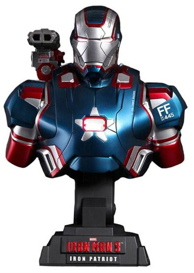 Busto Patriota de Ferro (Iron Patriot): Homem de Ferro 3 (Iron Man 3) Escala 1/4 - Hot Toys