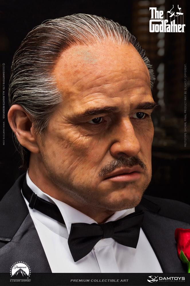 "PRÉ VENDA: Busto Realista (Life-Size Bust Realistc) ""Don Vito Corleone"": O Poderoso Chefão (The Godfather) (Escala 1/1) - Sideshow"