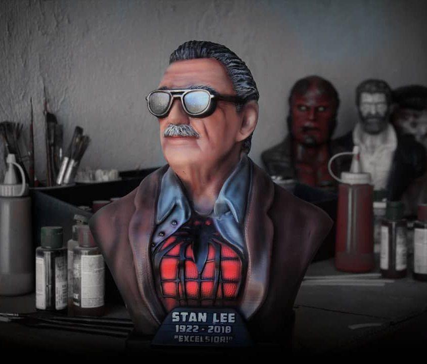Busto Stan Lee: Marvel Comics
