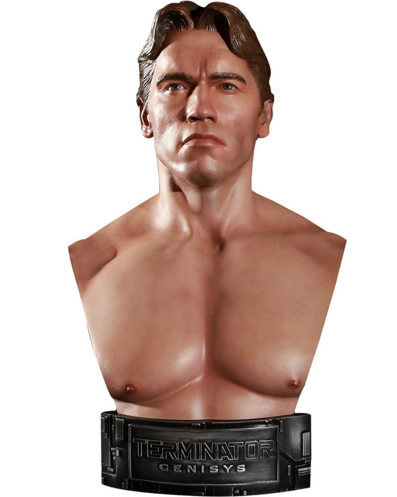 Busto T-800 (Arnold Schwarzenegger): O Exterminador do Futuro: Gênesis (Terminator Genisys) Escala 1/2 - Chronicle Collectibles - CD