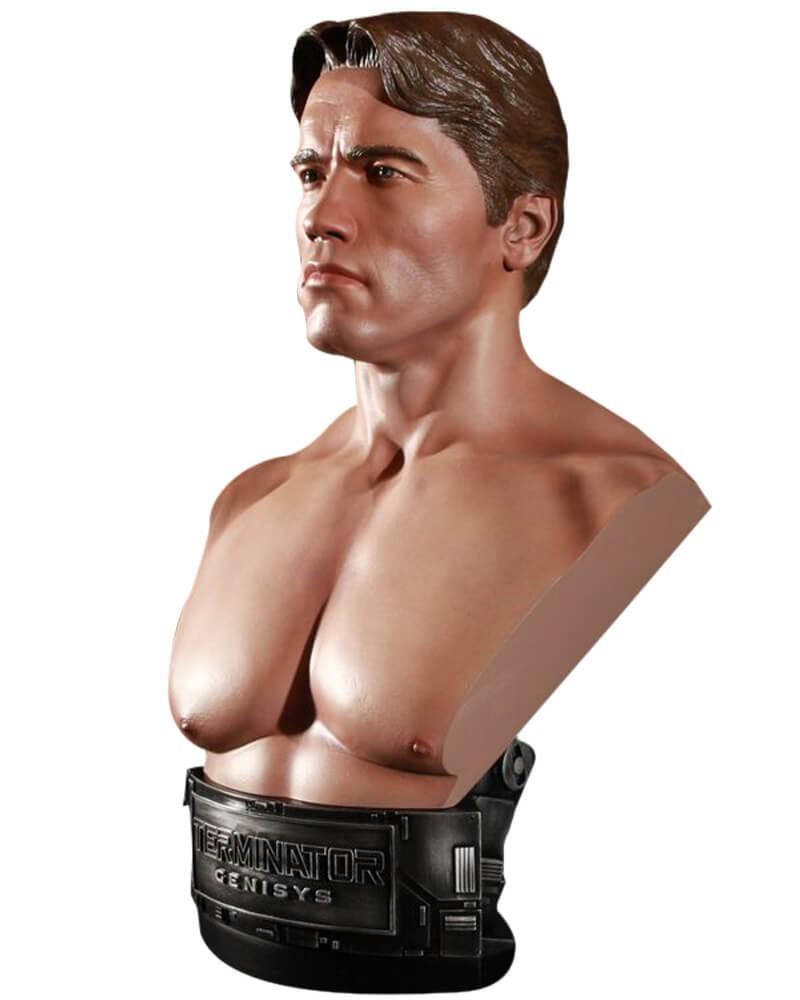 Busto T-800 (Arnold Schwarzenegger): O Exterminador do Futuro: Gênesis (Terminator Genisys) Escala 1/2 - Chronicle Collectibles - CD