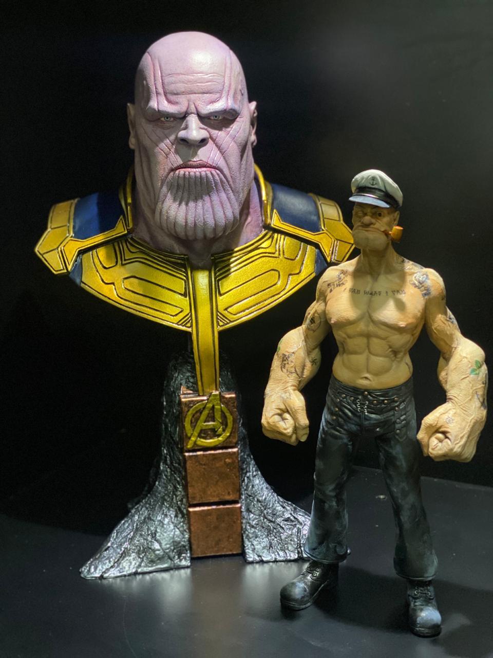 Estátua Busto Thanos: Vingadores Guerra Infinita - Marvel