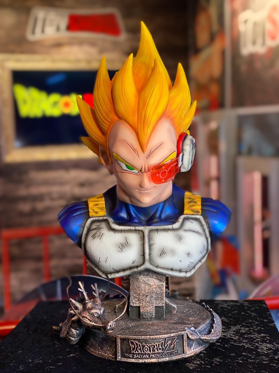 Busto Vegeta Super Saiyajin (Life Size): Dragon Ball - (Escala 1/1)