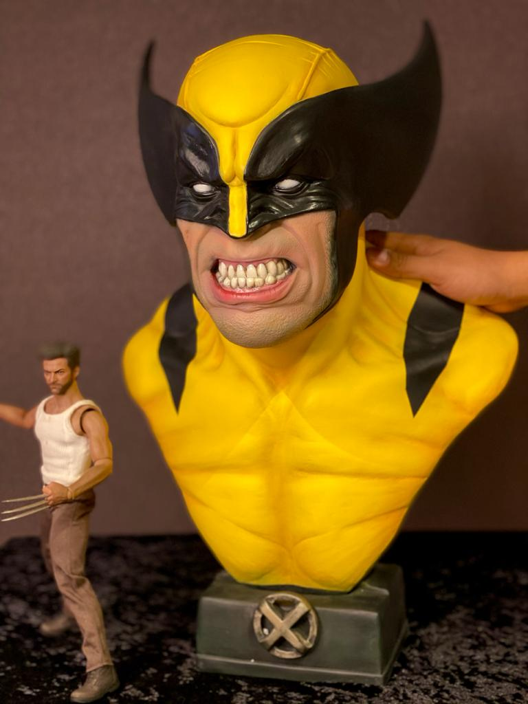 Busto Wolverine: X-Men Marvel Comics Escala 1/1