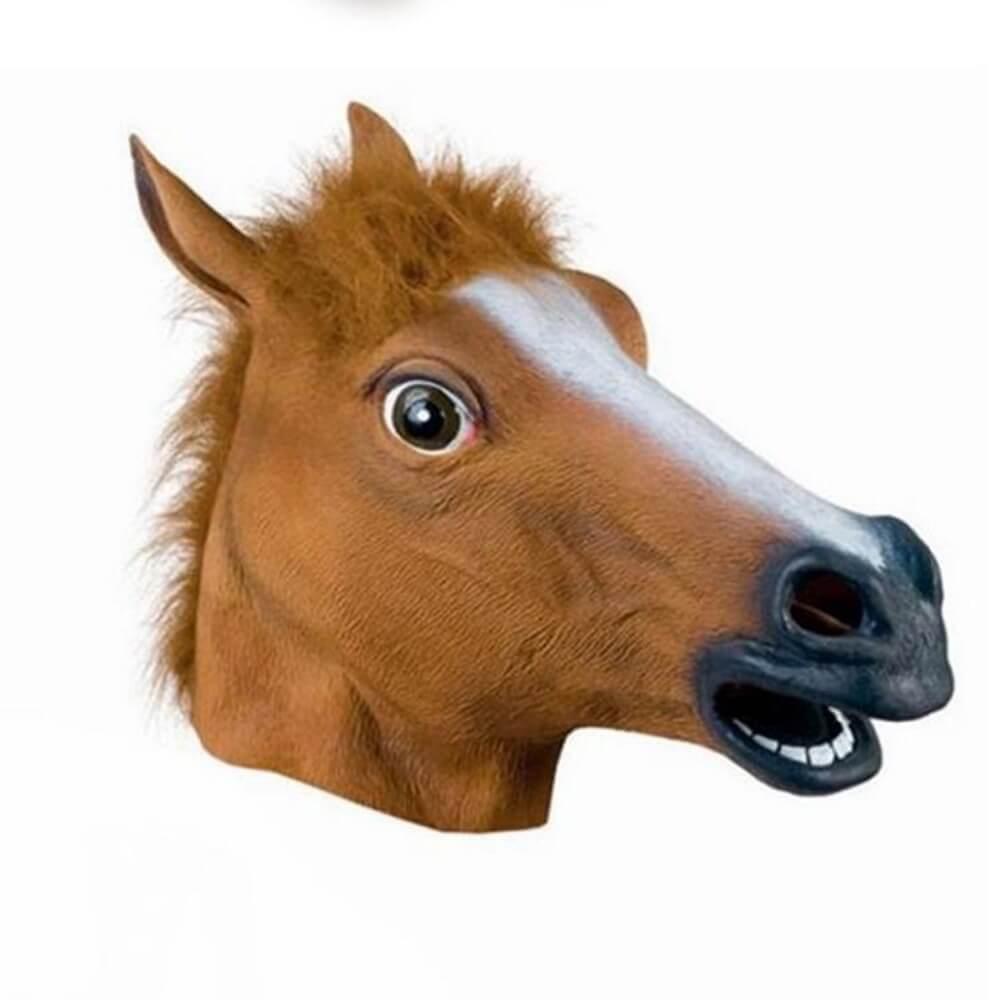 Máscara Cabeça de Cavalo - Acessório de Fantasia