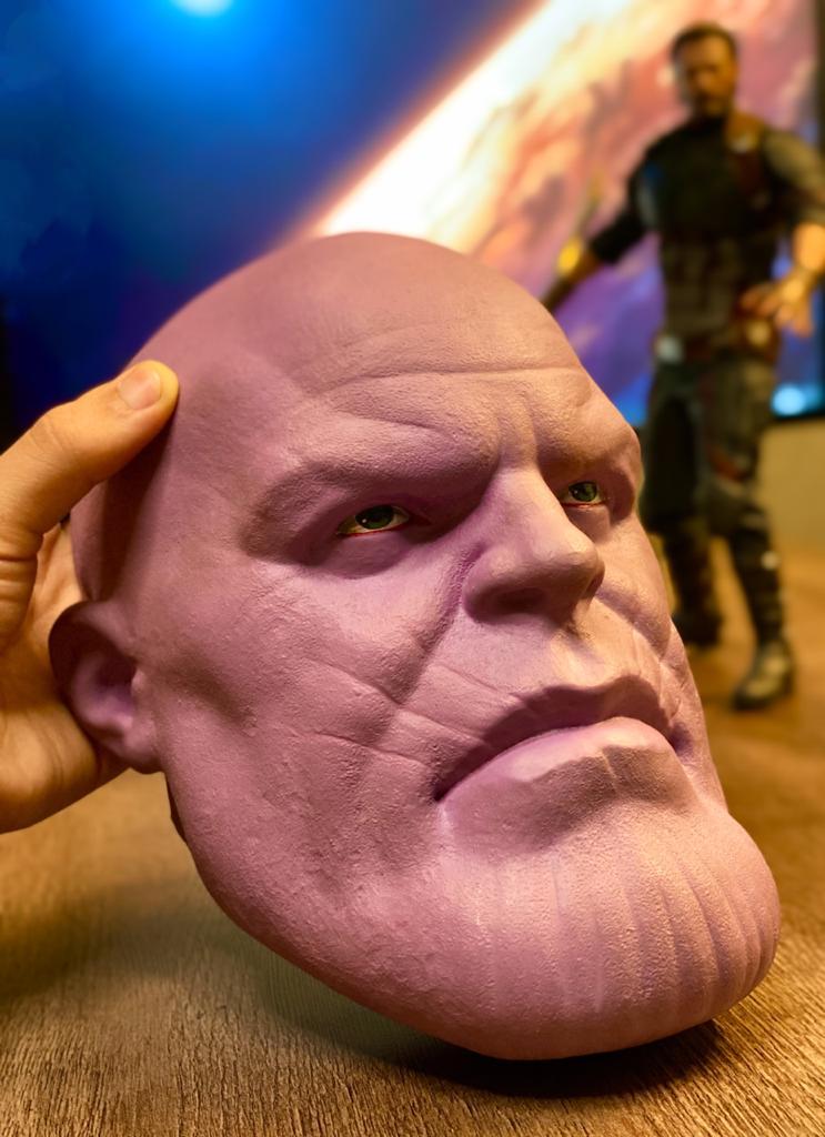 Cabeça Decorativa Thanos: Os Vingadores (The Avengers) Marvel