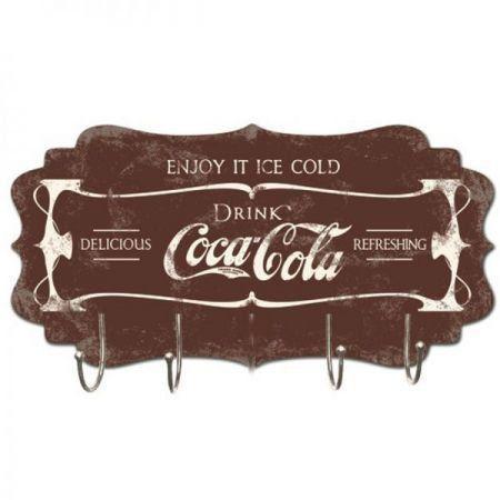 Cabideiro de Parede Coca Cola ( Marrom)