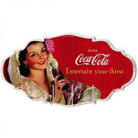 Cabideiro de Parede Coca Cola (  Vermelho)