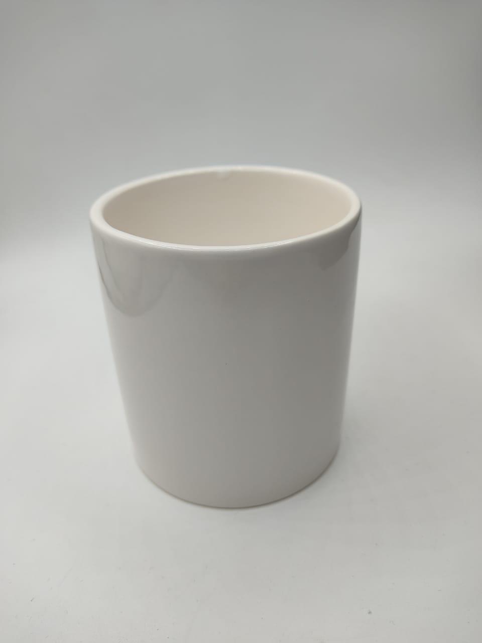 Cachepot  ''Branca'' Grande (Pequenos Detalhes Na Cerâmica)