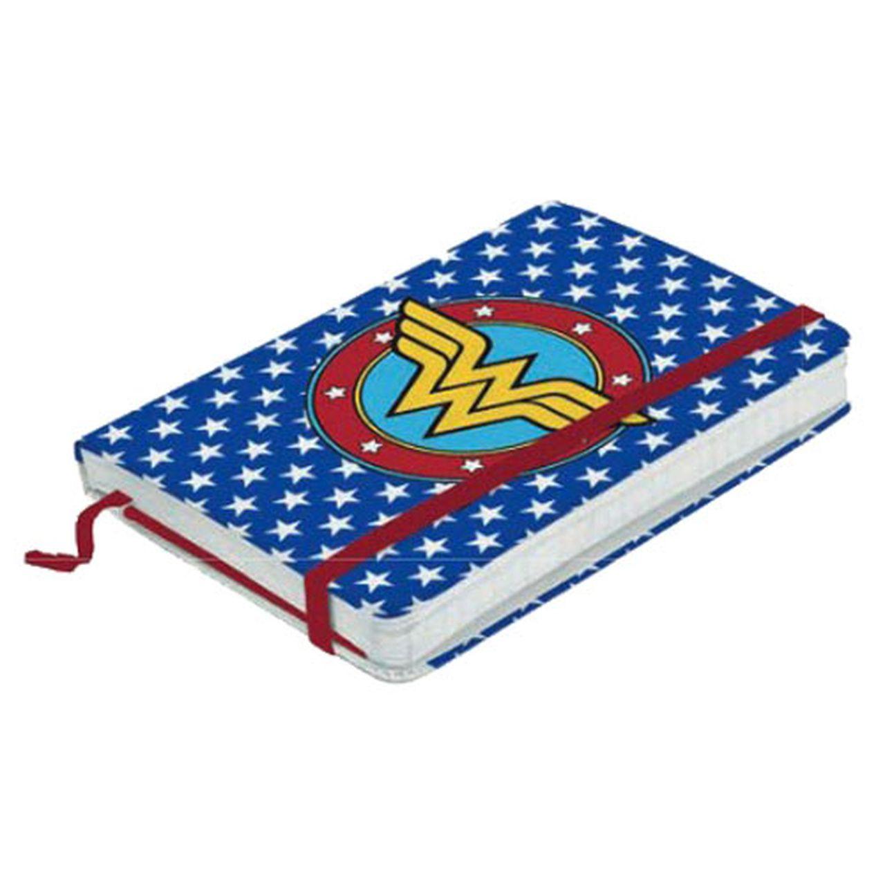 Caderneta de Anotação (A5) Logo Mulher Maravilha (Wonder Woman) Azul: DC Comics - Metropole