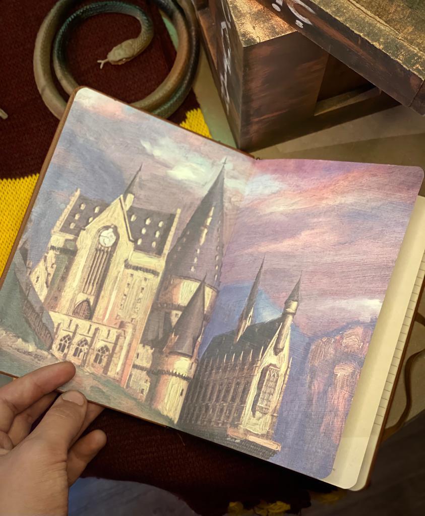 Caderno de Anotações Hogwarts Escola de Bruxos: Harry Potter 192 Folhas - Zona Criativa