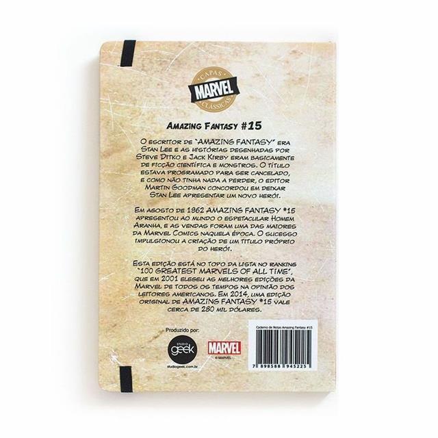 Caderno de Notas Homem Aranha - Studio Geek