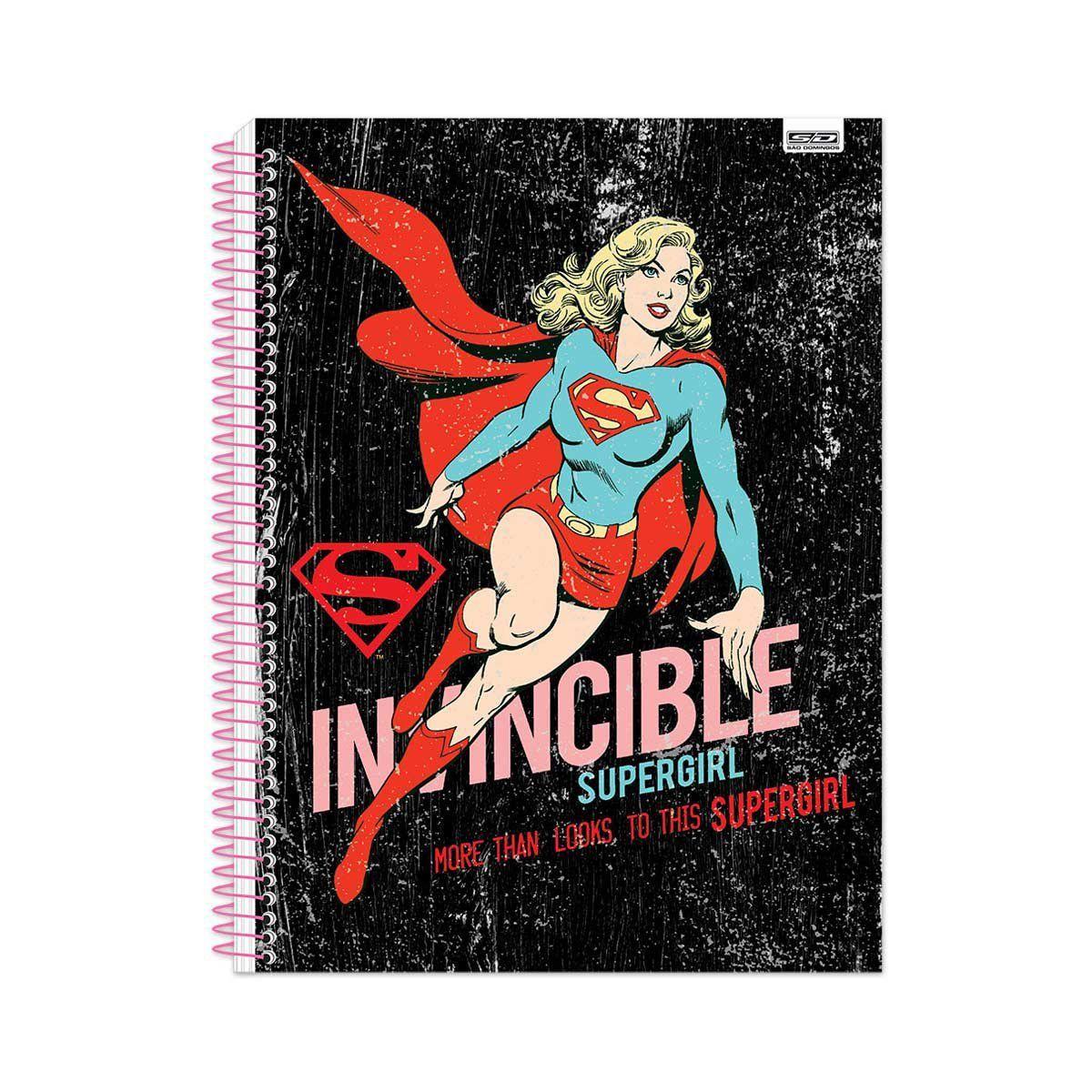Caderno Supergirl: Invincible - São Domingos