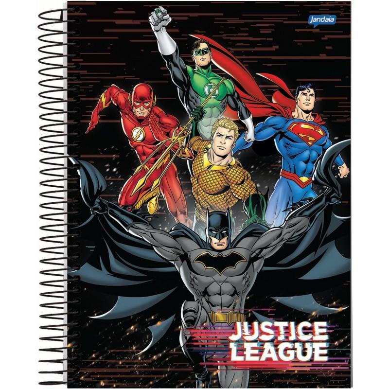 Caderno Universitários Geek Liga da Justiça Equipe: Dc Comics 10x1 - 200 Folhas - Jandaia
