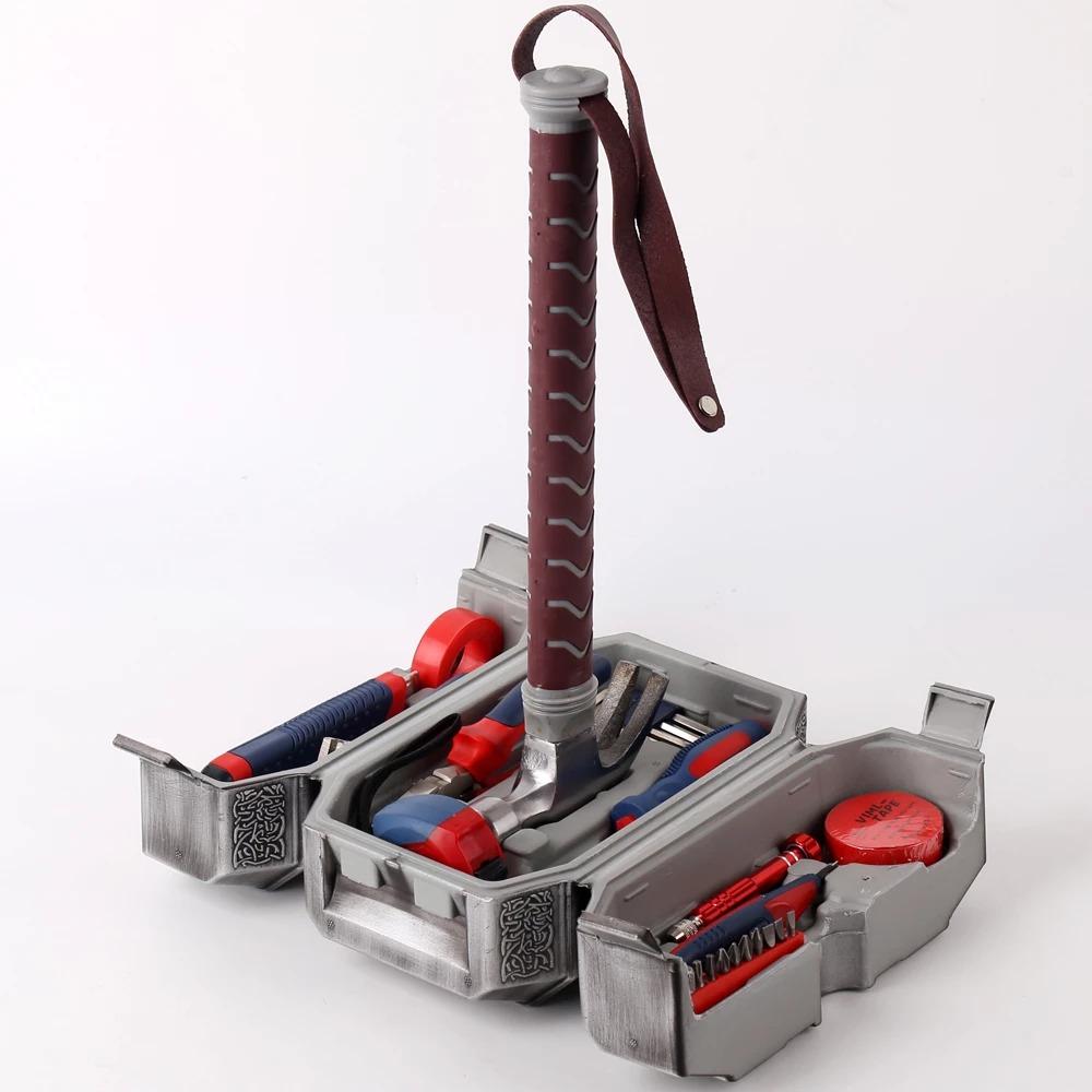 Caixa de Ferramentas Mjolnir Martelo do Thor Marvel Comics 42 cm - EVALI
