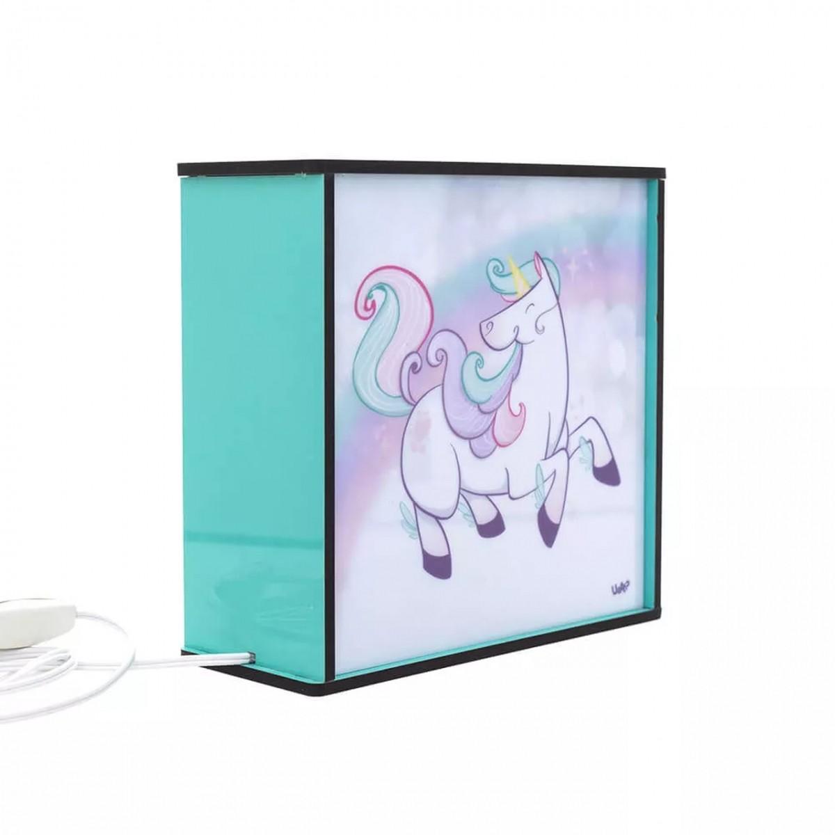 Caixa de Luz / Luminária Box Unicórnio
