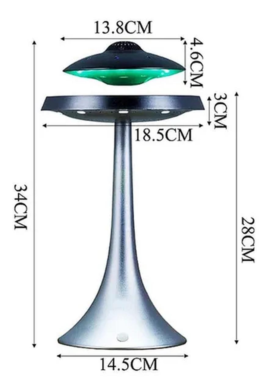 Caixa de Som Bluetooth Disco Voador UFO Nave Alienígena Magnético Flutuante