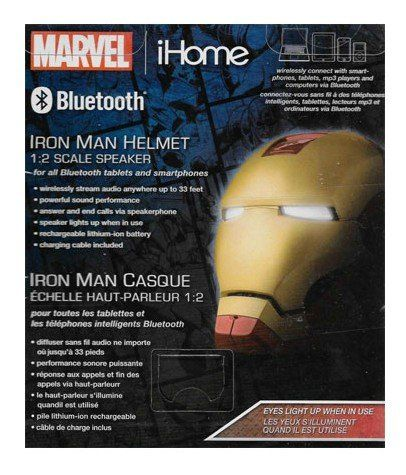 Caixa de Som Capacete Homem de Ferro (Iron Man Helmet) BT Speaker: Marvel - iHome