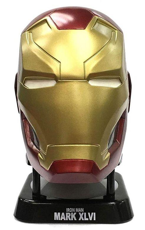 Caixa de Som Homem de Ferro (Iron Man Mark XLVI): Capitão América Guerra Civil (Civil War) - (BT Speaker)