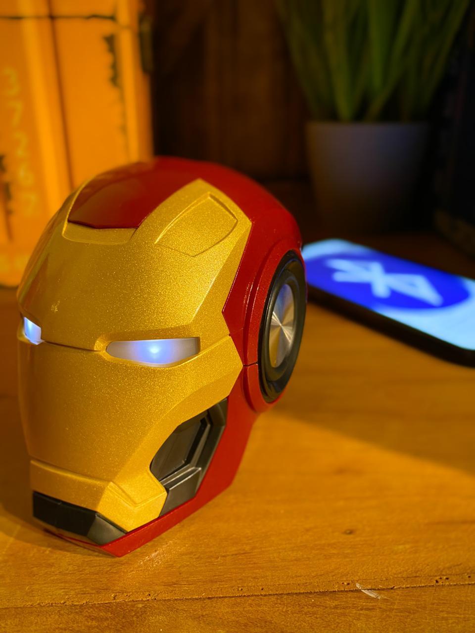 Caixa De Som Multifuncional Bluetooth Wireless Speaker: Homem De Ferro