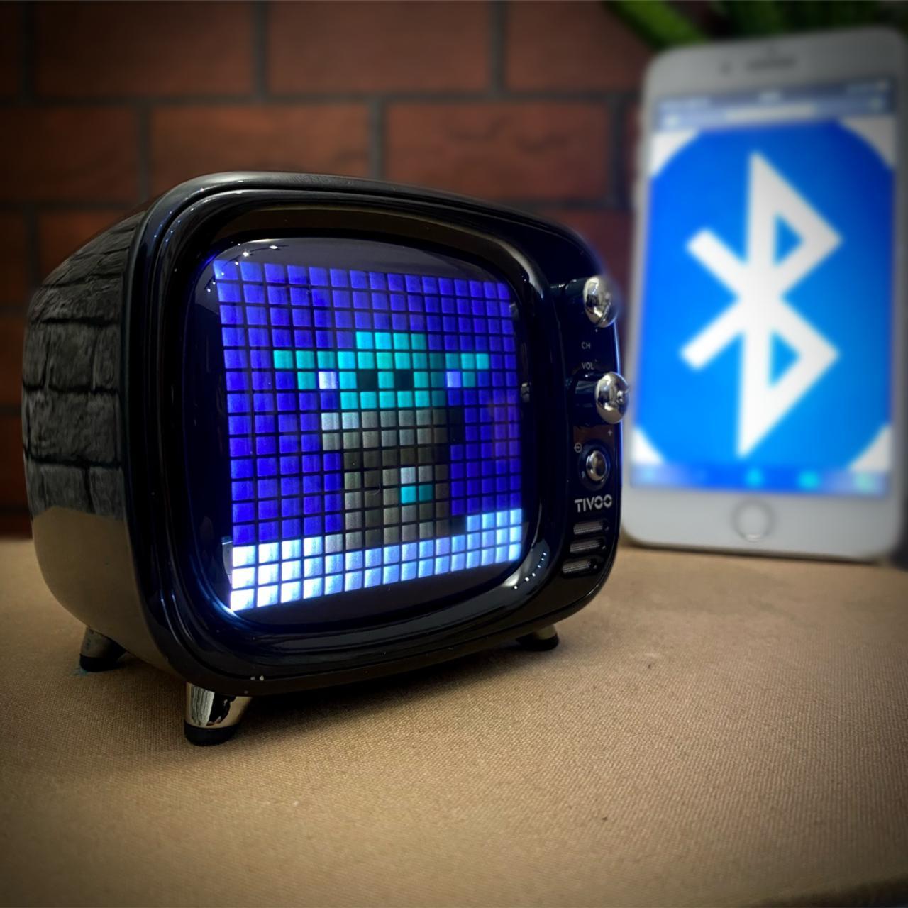 Caixa de Som Música Speaker Smart Bluetooth Tv Tivoo Smart Preto - Divoom