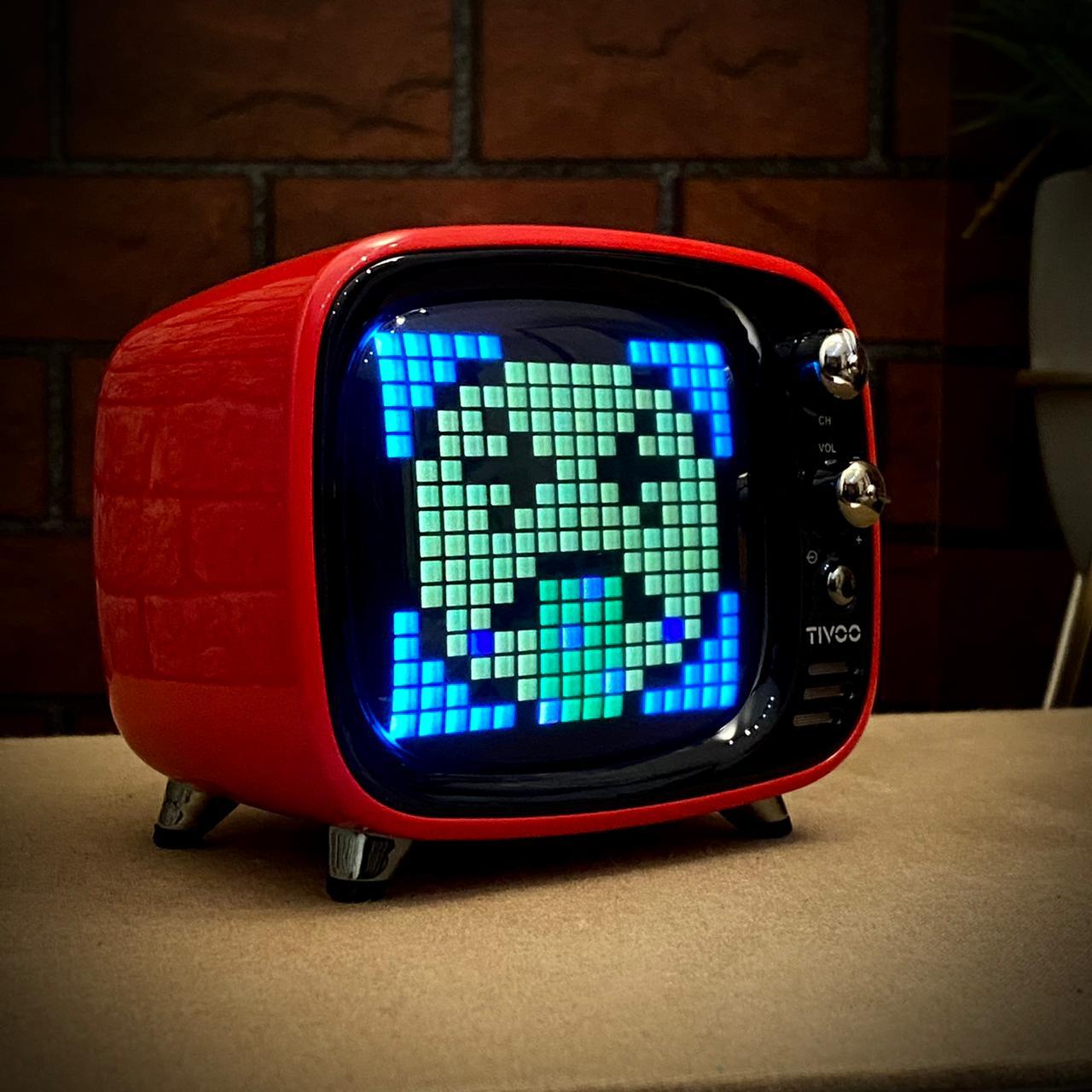 Caixa de Som Música Speaker Smart Bluetooth Tv Tivoo Smart Vermelho - Divoom